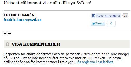 Nya SvD-layouten