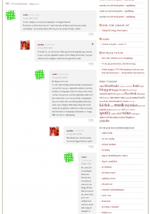 Indenterade nästlade kommentarer på Mymlans blogg