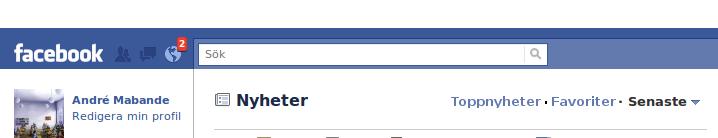 Facebook filter feed (mockup)