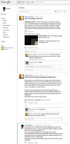 Google+ struktur