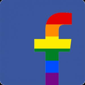 Facebook regnbågslogo