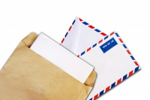 ID-10029403 Brown Document And Air Mail Envelope by Kittikun Atsawintarangkul