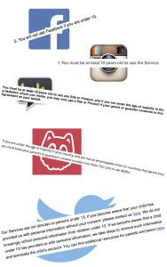 Åldersgränser för sociala media-registrering