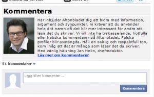Aftonbladet Facebook comments - presentation