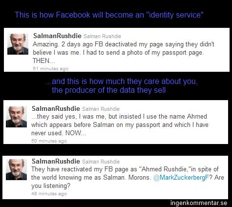 Facebook - identitetstjänsten