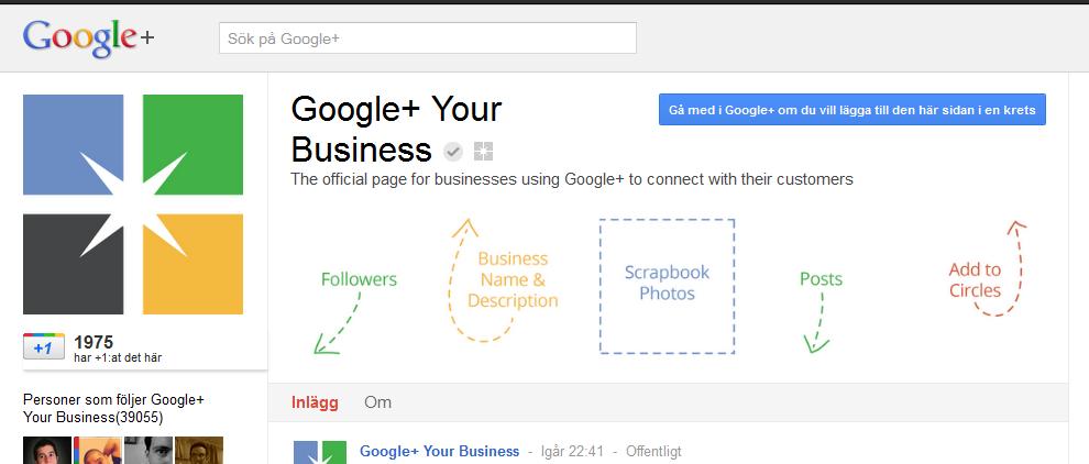 Google+ företagssidor