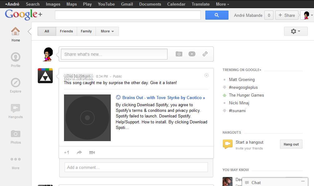 Google+ makeover