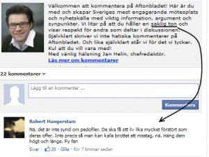 Omodererade regelbrott Aftonbladets kommentarsfält
