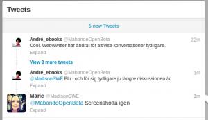 Ny twitterkonversationsdesign