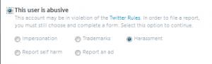 Block screen för Twitter